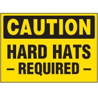 Caution Hard Hats Required Labels
