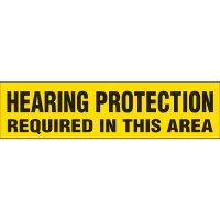 Hearing Protection Required Labels