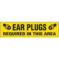 Ear Plugs Required Labels