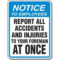 Notice To Employee Sign