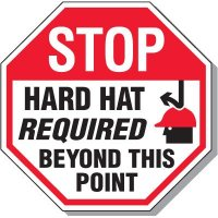 Stop Hard Hat Required Sign