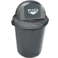 Push-Door Waste Receptacle