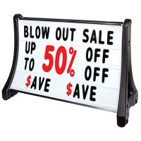 QLA-Plus Large Rolling A-Frame Sidewalk Signs