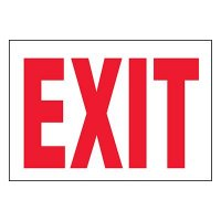 Emergency Exit Label