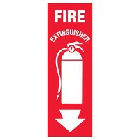 Slim-Line Fire Extinguisher w/Graphic Label