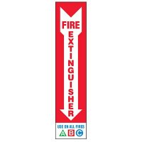 Slim-Line Fire Extinguisher Use On All Fires A B C Label