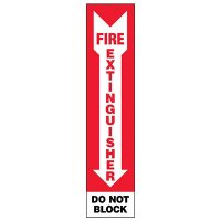 Slim-Line Fire Extinguisher Do Not Block/Bilingual Label