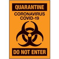 Quarantine Do Not Enter Label