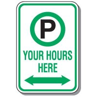 Rapid-Ship Custom Parking Signs - Parking Symbol