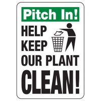 Pitch In! Trash Sign