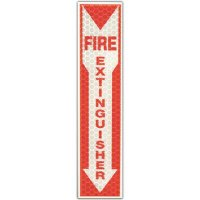 Reflective Glow Fire Extinguisher Sign Cyalume 9-30071