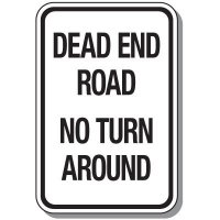 Reflective Parking Lot Signs - Dead End Road