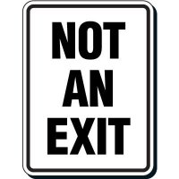 Reflective Parking Lot Signs - Not An Exit