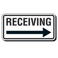 Shipping & Receiving Arrow Signs - Receiving