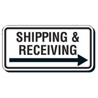 Shipping and Receiving Arrow Signs - Shipping & Receiving