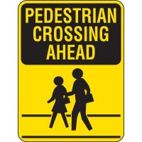 Pedestrian Crossing Ahead Sign