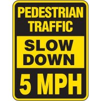 Pedestrian Traffic Slow Down Sign