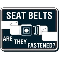 Seat Belt Safety Sign