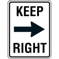 Keep Right Arrow Sign