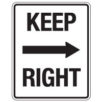 Reflective Traffic Reminder Signs - Keep Right