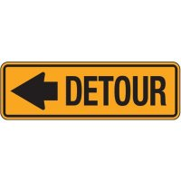 Reflective Traffic Signs - Detour (With Arrow)