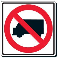 No Trucks Symbol Sign