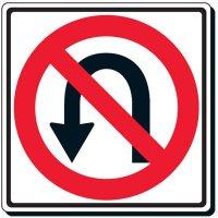 No U-Turn Symbol Sign