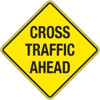 Reflective Warning Signs - Cross Traffic Ahead