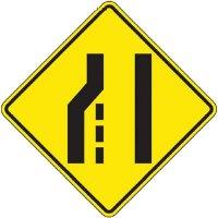 Reflective Warning Signs - Lane Ends