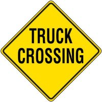 Reflective Warning Sign - Truck Crossing