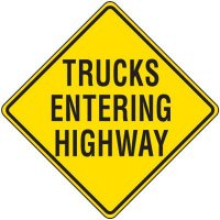 Trucks Entering Highway Traffic Sign