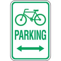Reserved Parking Signs - Bicycle Parking (Double Arrow)