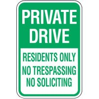 Reserved Parking Signs - Private Drive Residents Only