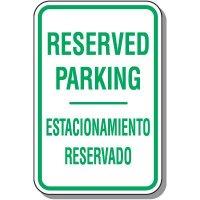 Bilingual Reserved Parking Sign