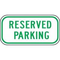 Reserved Parking Sign
