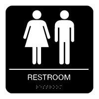 Rest Room - Braille Restroom Signs