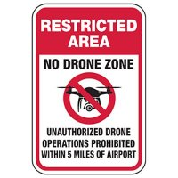 Restricted Area - No Operation Within 5 Miles of Airport