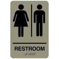 Restroom (Man/Woman) - Economy Braille Signs