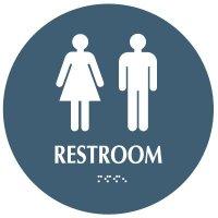 Restroom - Modern California Code Restroom Signs