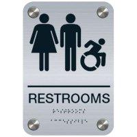 Restrooms (Dynamic Accessibility) - Premium ADA Restroom Signs