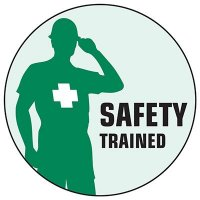 Safety Hard Hat Labels - Safety Trained