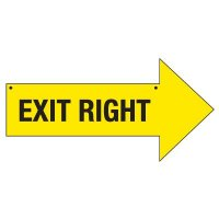 Right Exit Arrow Signs