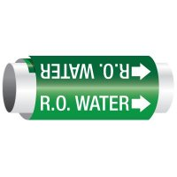 R.O. Water - Setmark Pipe Markers