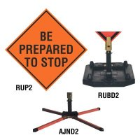 Roll-Up Signs And Stands - Be Prepared To Stop TrafFix Devices 26036-EM-HF