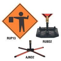Roll-Up Signs And Stands - Flagger Symbol