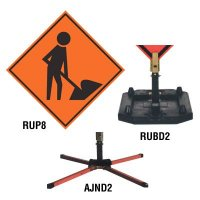 Roll-Up Signs And Stands - Men Working Symbol