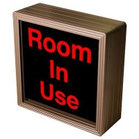 Room In Use Backlit LED Sign