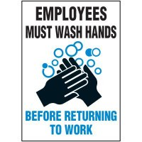 Employees Wash Hands Label
