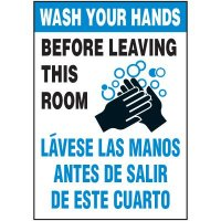 Bilingual Wash Your Hands Label
