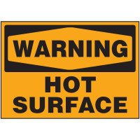 Warning Hot Surface Label